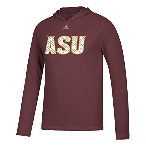 adidas NCAA Arizona State Sun Devils Mens Line Shine Ultimate L/S Hoodline Shine Ultimate L/S Hood, Maroon, X-Large
