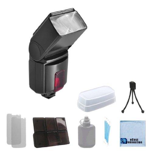 Pro Series Digital DSLR Dedicated Flash AF Flash for Nikon DSLR Cameras & More & an eCostConnection Accessory Kit