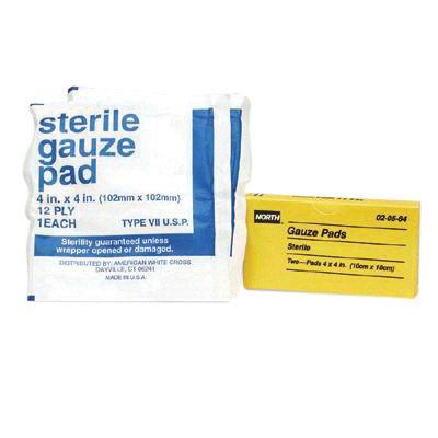 North 020584 By Honeywell 4'' X 4'' Latex-Free Sterile Gauze Pad (2 Per Box) (1/PK)