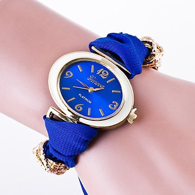 Mens Watches Womens Casual Wrist Watch Ladies Quartz Generva Brecelet Watch Fabric Band with Special Oval