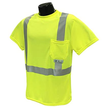c1274665b1 Radians ST11-2PGS-L High-Visibility Class 2 T-Shirt with Moisture Wicking  Mesh, Large, Green - Safety Vests - Amazon.com