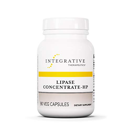 Integrative Therapeutics - Lipase Concentrate-HP - Fat Digestion* Enzyme - Keto and Paleo Friendly - Ideal for Diet High in Fat - Vegan - Vegetable Capsules - 90 Count