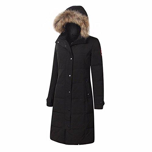 El calor exterior impermeable con abrigo de cachemir de plumas de ganso, ski Suit Jacket frío, L, Black: Amazon.es: Ropa y accesorios