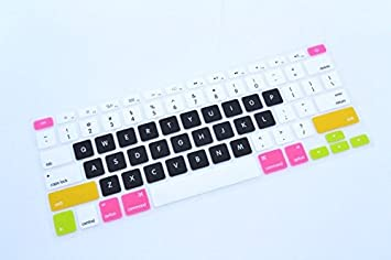 check out e53ee ad917 Durable keyboard Cover Protector - HQF® Silicone Rubber Keyboard Cover Skin  for MacBook Air 13