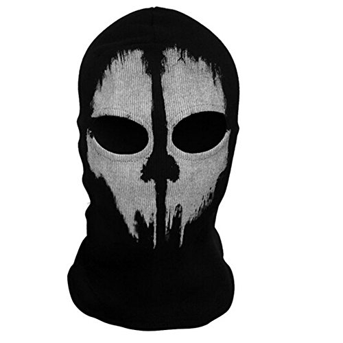 Onairmall Call of Duty 10 COD Ghost Hoods Skull Skeleton Head Mask Hood (Skeleton Hood)