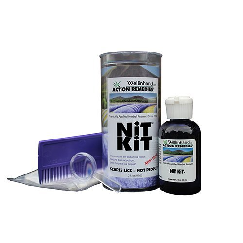 Hand Nit Kit - Well-In-Hand Herbal Topicals Nit Kit Lice Treatment Kit, Each by Well In Hand