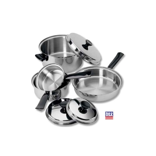 Regalware Food Service Lodging Tri-Ply 7-piece Stainless Steel Cookware Set
