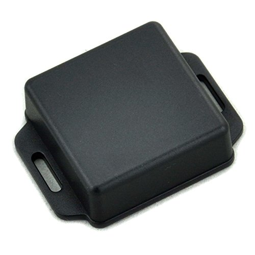 Electronics-Salon Small Wall-mounting Plastic Enclosure Box Case, Black, 51x51x20mm,.