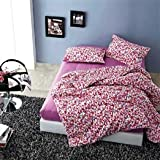 Luxurious Floral Print Soft Warm Keeping Confortable 4 Pieces Beddings