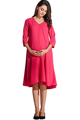 Sweet Mommy Maternity and Nursing Free Fit Baby Shower Dress Hot Pink, M by Sweet Mommy (Image #3)