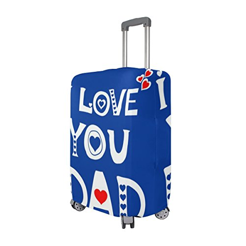 Love You Dad Father Day Birthday Suitcase Luggage Cover Protector for Travel Kids Men Women by ALAZA (Image #1)