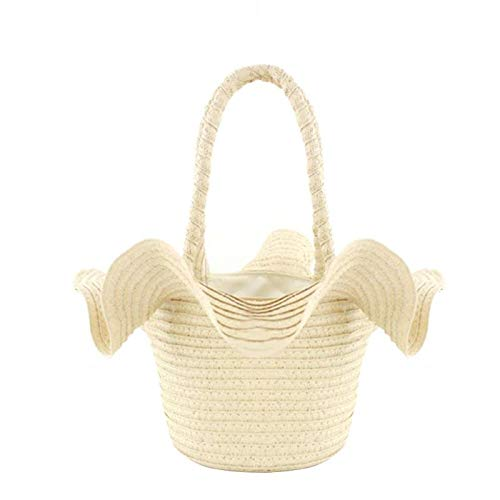 Stringata Womens chiaro Casual Shape Style Summer Onemoret Beige Hat Beach Bag Straw marrone Retro twqOZ0F