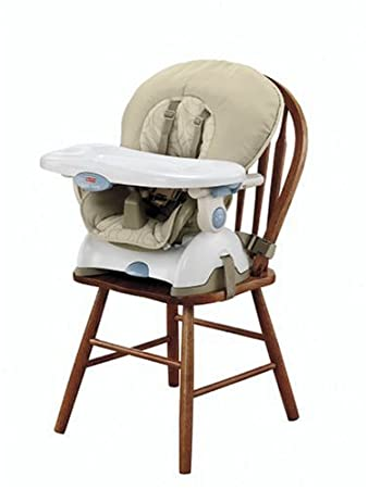 amazon com fisher price space saver high chair tan childrens