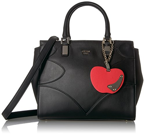 (GUESS Fruit Punch Society Satchel, Black)