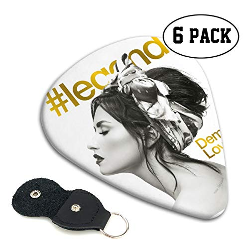 Demi Lovato Music Graphics Guitar Picks 6 Pack Musician Guitar Player Musical Gift Easy To Carry Guitar Pick (Demi Lovato Guitar)