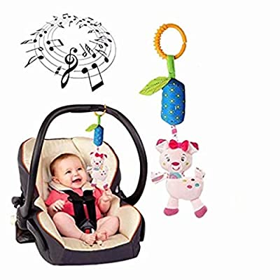 CARDEON 1PC Kid Baby Rattle Hanging Toy,Crib Cot Pram Hanging Rattles Spiral Stroller Car Seat Toy: Home Improvement