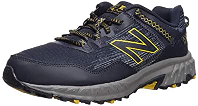 New Balance Men's 410v6 Cushioning Trail Running Shoe, Eclipse/Vintage Indigo/Sunflower, 8 D US