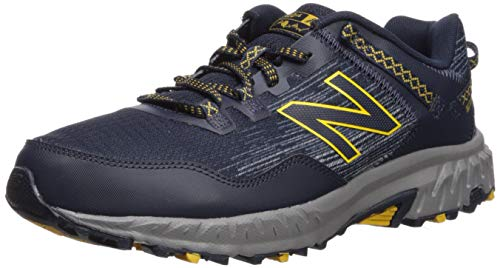 New Balance Men's 410v6 Cushioning Trail Running Shoe, Eclipse/Vintage Indigo/Sunflower, 9.5 D US