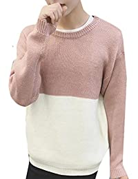 YUNY Men's Crew-Neck Pullover Assorted Color Knitwear