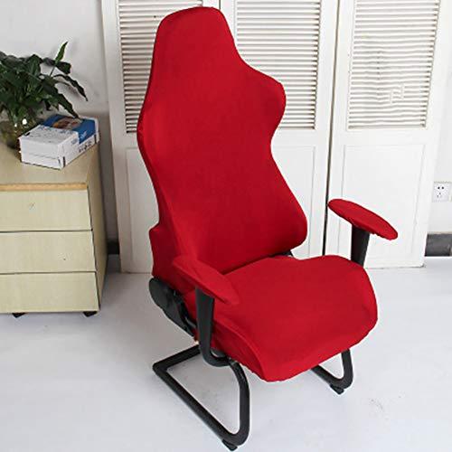 QLING Fundas Silla Protector Asientos computadora extraibles Gaming Office Decoracion elastica Poliester Lavable Sillones Suaves Spandex Moderno(Vino Rojo)