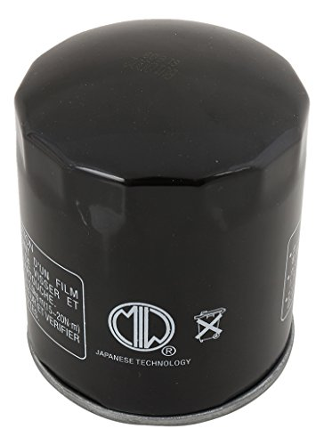 MIW BU10002-004 Oil Filter for Harley FLHRS Road King Custom 04 05 06 07, FLHRSE CVO Road King 14, FLHRSE3 Screamin Eagle Road King 07, FLHRSE4 Screamin Eagle Road King 08