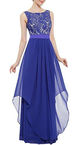 Abiti Sera Da Da Anna Di Partito Di Da Pizzo Del Reale Azzurro Ballo Vestito Lungo Sposa TwRvWBqw5