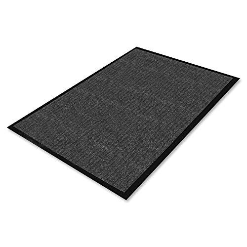 Genuine Joe Indoor Mat, Vinyl Backing, 3 by 5-Feet, Charcoal