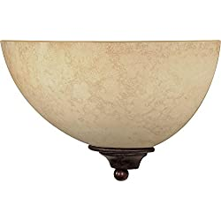 Nuvo 60/044 One Light Wall Sconce with Tuscan Suede Glass, Old Bronze