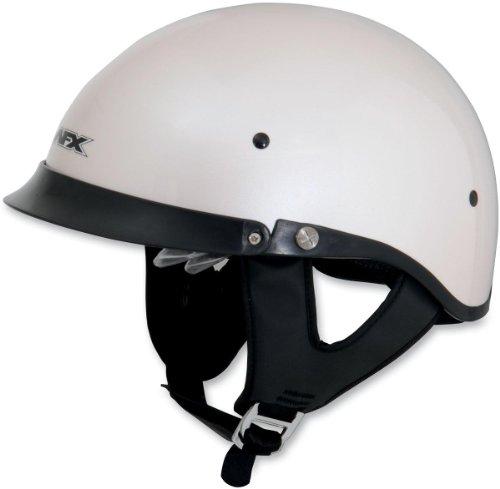 AFX FX-200 Dual Inner Lens Half-Style Beanie Helmet, Pearl White 0103-0745, Size: XS