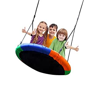 "Blue island Tree Swing-Children's Outdoor Large Size 40"" Diameter Durable Swing-Easy Installation"