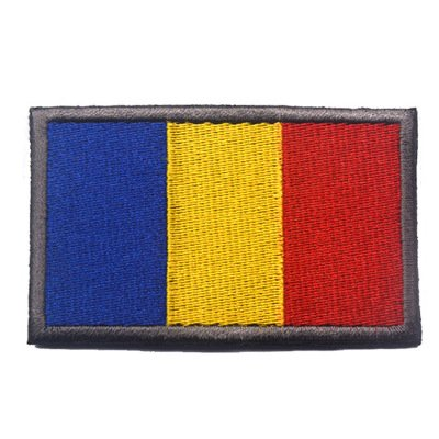(ShowPlus Romania RO Flag Military Embroidered Tactical Patch Morale Shoulder Applique)