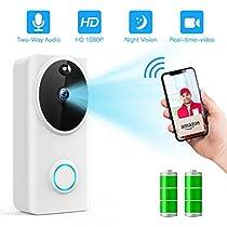 FREDI wifiワイヤレスチャイム 可視ワイヤレステレビドアホン 1080P...