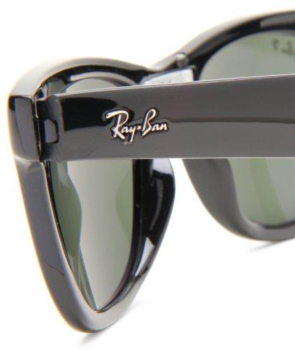 Ray-Ban FOLDING WAYFARER - BLACK Frame CRYSTAL GREEN POLARIZED Lenses 50mm Polarized