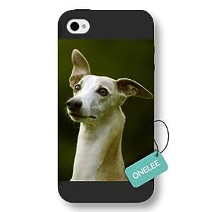 Onelee(TM) - Pet Dog Jack Russell Terrier iPhone 4/4s Hard Plastic Case & Cover - Black 01