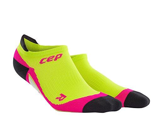 CEP Women's Dynamic+ No-Show Socks, Lime/Pink, III