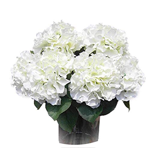 5 Big Heads Silk Artificial Fake Flower Bouquet Floral Hydrangea Wedding Party Decor Flores Artificiales,as ()