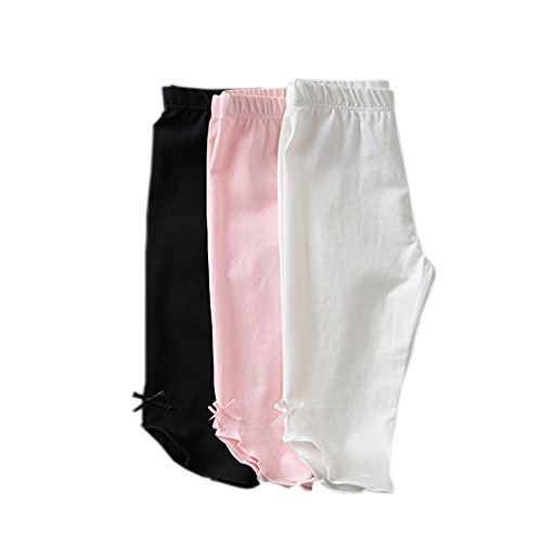 KIDS BRON Cotton Capri Crop Summer Leggings for School Or Play (3-Packs) (4T/Toddler Girl, 3pk-Capri BWP) by KIDS BRON (Image #5)