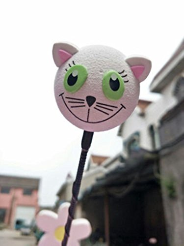 APCS Cute White cat Antenna Ball Car Aerial Ball Antenna Topper Decor Ball & Pen Ball