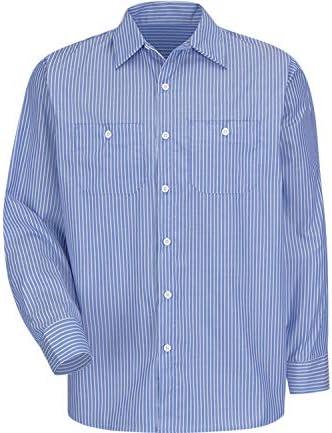 ストライプ 長袖 ワークシャツ SP10 SP14 Industrial ロングスリーブ S M L [並行輸入品]