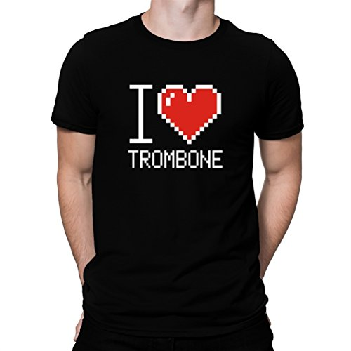I love Trombone pixelated T-Shirt