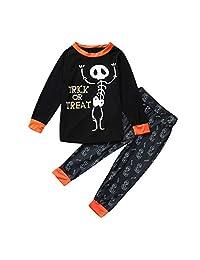 WOCACHI Halloween Infant Unisex Baby Romper Pants Caps Headband Outfit 4PCS Sets