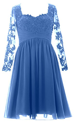 Dress Long Formal Sleeves Midi Horizon Women Gown Evening Bride Lace of MACloth Mother 1qRB4Px