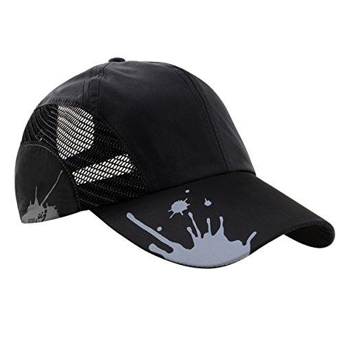 Official Player Cap - ATOFUL Baseball Hats Summer Hats for Men/Women, Adjustable Outdoor Sport Hats Cap(Black)