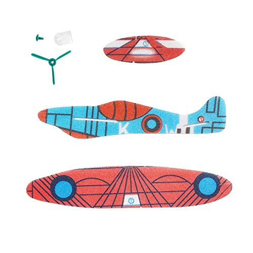 kizh Flying Glider Planes, 36 Pack 8 inch Throwing Foam Airplane Birthday Party Favor Plane Flying Aircraft Easy Assembly Best Outdoor Fun for Kids Children Boys Girls Random Color by kizh (Image #2)