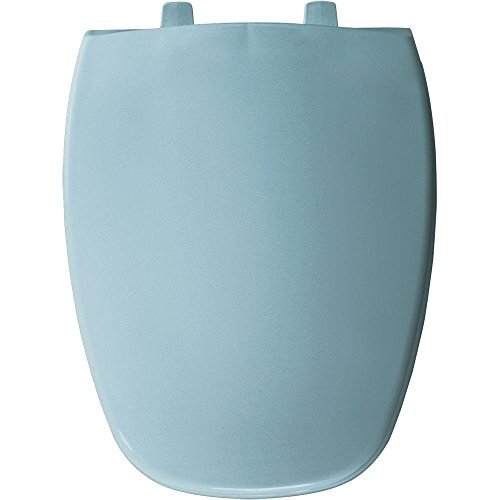 Bemis 1240205 024 Toilet Seat with Eljer Emblem Elongated Closed Front Plastic, Twilight Blue - Toilet Seat Elongated Eljer