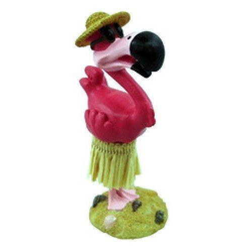 Hula Flamingo Mini Dashboard Doll 4.3'' by KC Hawaii by KC Hawaii