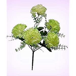 Inna-Wholesale Art Crafts New 5 Carnations SAGE Green Bouquet Centerpieces Silk Decorating Flowers Decoration - Perfect for Any Wedding, Special Occasion or Home Office D?cor 10