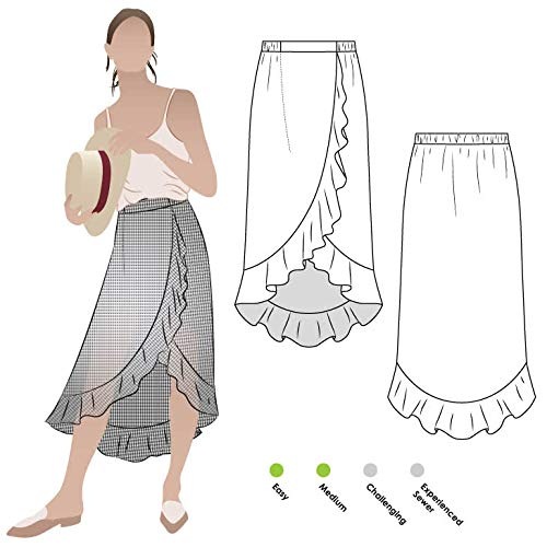 Style Arc Sewing Pattern - Ariel Wrap Skirt (Sizes 04-16) - Click for Other Sizes Available ()