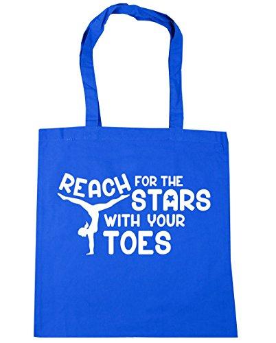 HippoWarehouse Alcance para las estrellas con los dedos gimnasia gimnasio playa bolsa de la compra bolsa 42cm x38cm, 10litros, rojo clásico (rojo) - 21429-TOTE-Classic Red Cornflower Blue