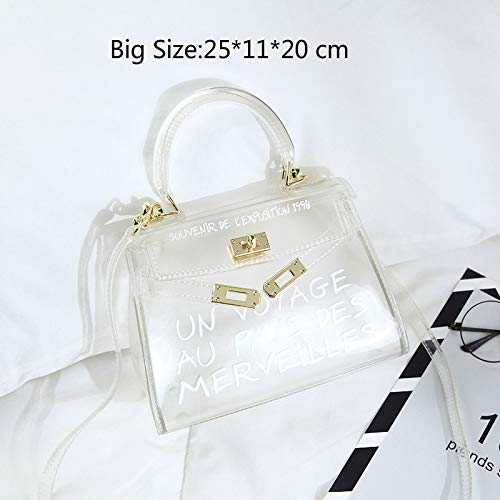 HITSAN INCORPORATION Satchel Handbag Women Bag Clear Jelly Transparent PVC  Bag Candy Color Tote Bag Designer 3d87c8949f67e